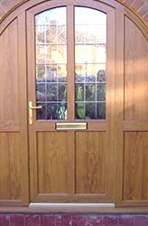 Door with Woodgrain Effect